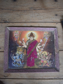 Vintage Print of Shakti (divine female) in Four Forms; Durga, Kali, Saraswati and Laxshmi <b>SOLD<b>